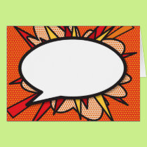 Personalised Comic Book Pop Art Speech Bubble Card