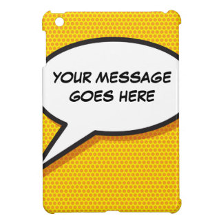 Personalised Comic Book Pop Art Speech Bubble iPad Mini Cover