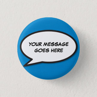 Personalised Comic Book Pop Art Speech Bubble Pinback Button