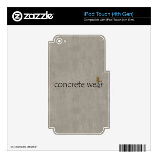 Personalised Cool Concrete Wear Urban Bird iPod Touch 4G Skin
