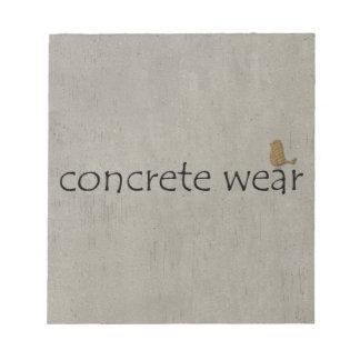 Personalised Cool Concrete Wear Urban Bird Notepad