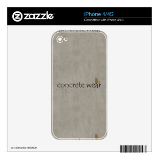 Personalised Cool Concrete Wear Urban Bird Skin For iPhone 4S