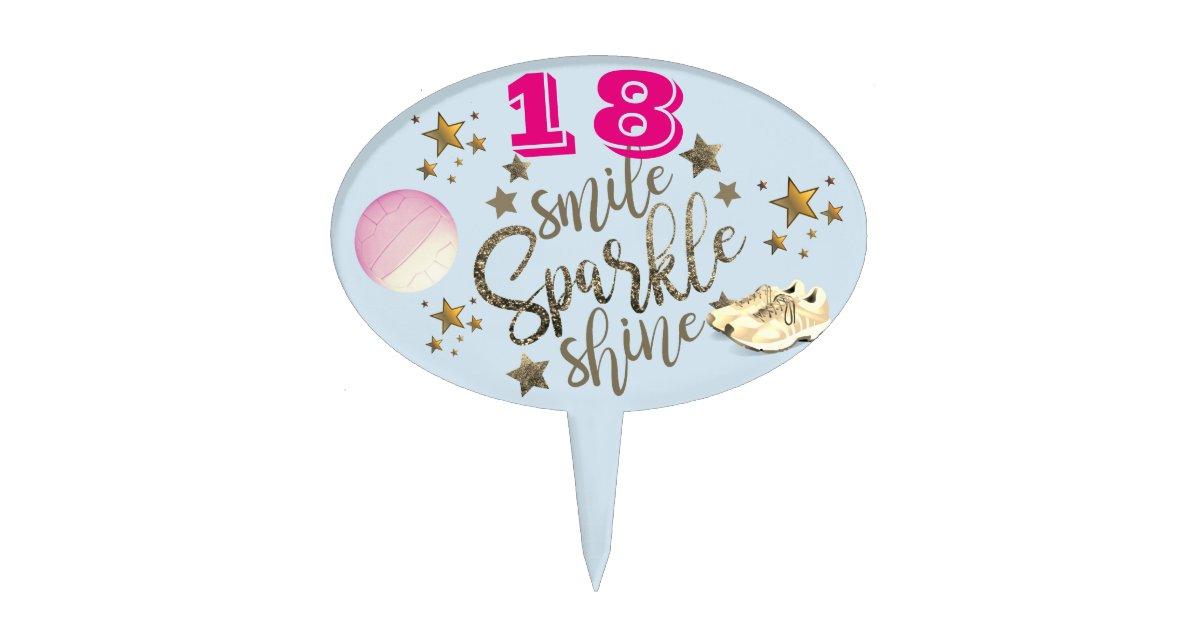 Awe Inspiring Personalised Custom Birthday Netball Cake Topper Zazzle Com Personalised Birthday Cards Veneteletsinfo