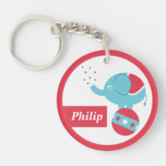 Personalised Cute Circus Themed Party Favor Keychain