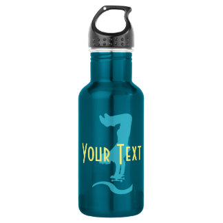 Personalised Cute Travel Beach Pool  Water Bottle