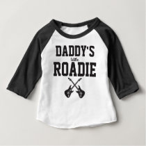 Personalised Daddy's Little Roadie Baby T-Shirt