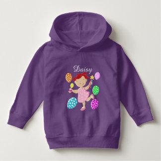 Personalised Daisy Cupcake Balloon Kids Hoodie