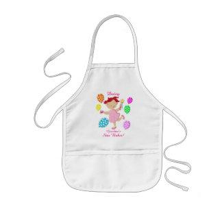 Personalised Daisy Cupcake Balloon Kids Kids' Apron