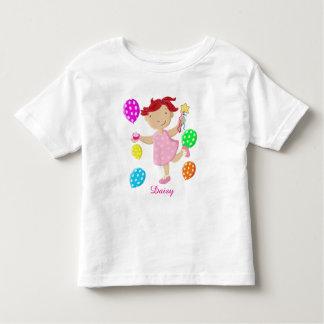 Personalised Daisy Cupcake Balloon Kids Toddler T-shirt