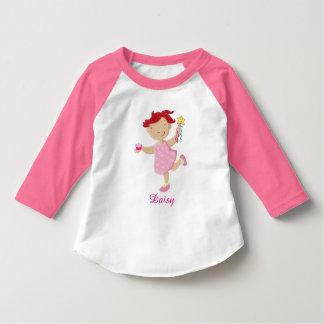 Personalised Daisy Cupcake Wand Girls T-Shirt
