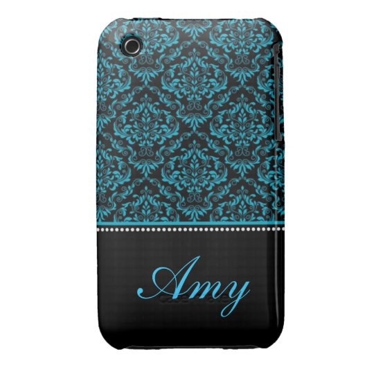 Personalised Damask Design Blackberry Curve case