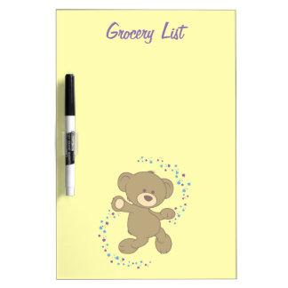 Personalised Dancing Teddy Bear Dry-Erase Board