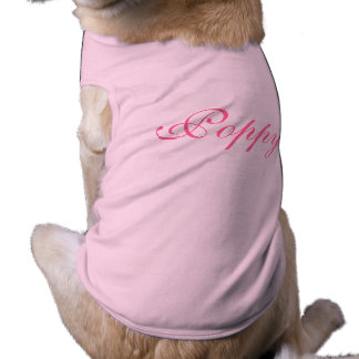 Personalised dogs name pet dog clothing t-shirt