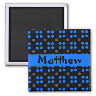 Personalised dotting pattern 2 inch square magnet