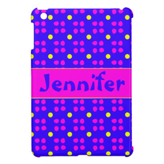Personalised dotting pattern cover for the iPad mini
