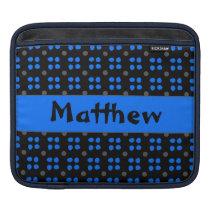 Personalised dotting pattern iPad sleeve