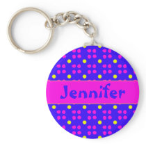 Personalised dotting pattern keychain