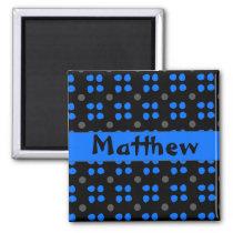 Personalised dotting pattern magnet