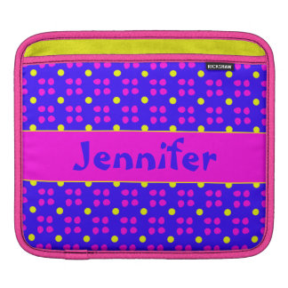 Personalised dotting pattern sleeves for iPads