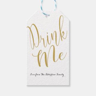 Personalised Drink Me gift tag