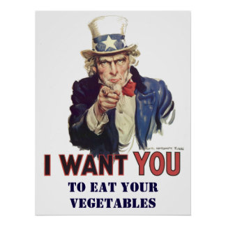 Personalised eat your vegetables poster