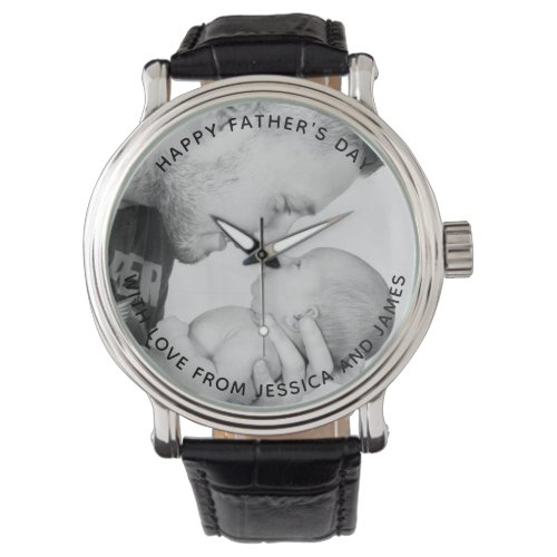 Personalised father's day photo watch