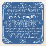 "personalised Favor wedding coaster Thank you<br><div class=""desc"">personalised Favor wedding coaster Thank you Square</div>"
