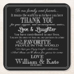 """personalised Favor wedding coaster Thank you<br><div class=""""desc"""">personalised Favor wedding coaster Thank you Square</div>"""