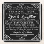 "personalised Favor wedding coaster Thank you<br><div class=""desc"">wedding favour</div>"