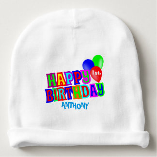 Personalised First birthday party Baby Beanie
