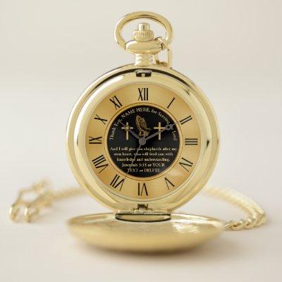 Personalised Gifts for Priests, Pastors, Leaders Pocket Watch