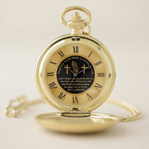 Personalised Gifts for Priests, Pastors, Leaders Pocket Watch