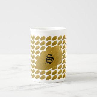 Personalised Gold Leaf Tea Cup