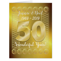 Personalised Golden Wedding 50th Anniversary Card