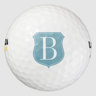 Personalised golf balls with custom name monogram pack of golf balls