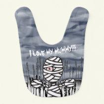 Personalised Halloween Mummy Baby Bib