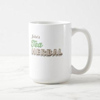 Personalised Herbal Tea Classic White Coffee Mug