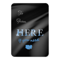 Personalised Here for  you sentiment card