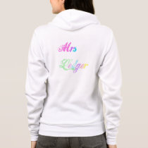 Personalised Hoodie in rainbow print