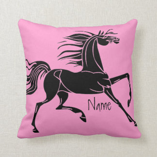Personalised horse art silhouette pillow