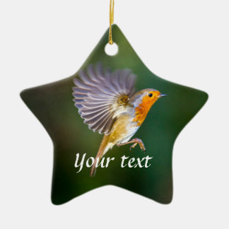 Personalised hovering robin ornament
