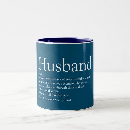 Husband Mug - Blue & Personalized