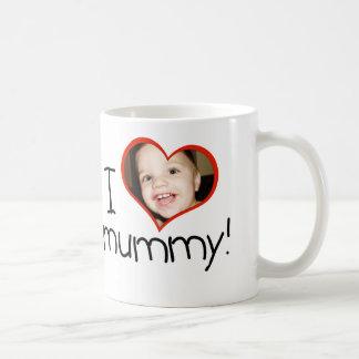"""Personalised """"I *heart* mummy"""" mug"""