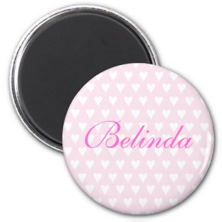 Personalised initial B girls name hearts magnet