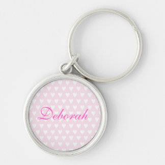 Personalised initial D girls name hearts keychain