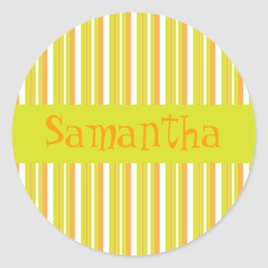 Personalised initial S girls name stripes stickers