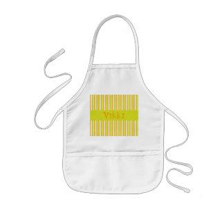 Personalised initial V girls name stripes apron