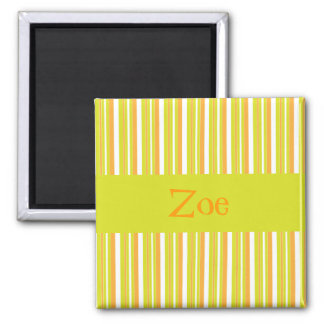 Personalised initial Z girls name stripe smagnet Refrigerator Magnets