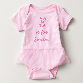 Personalised 'is for' Name Baby Tutu Bodysuit