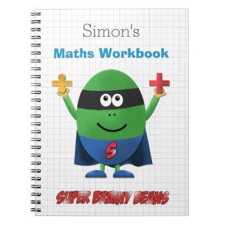 Personalised kids maths workbook notebook